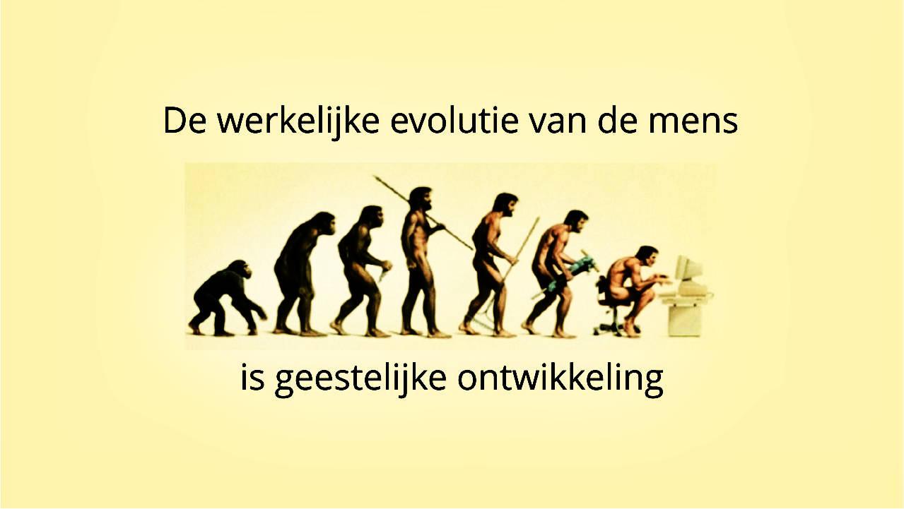 Werkelijke evolutie van de mens